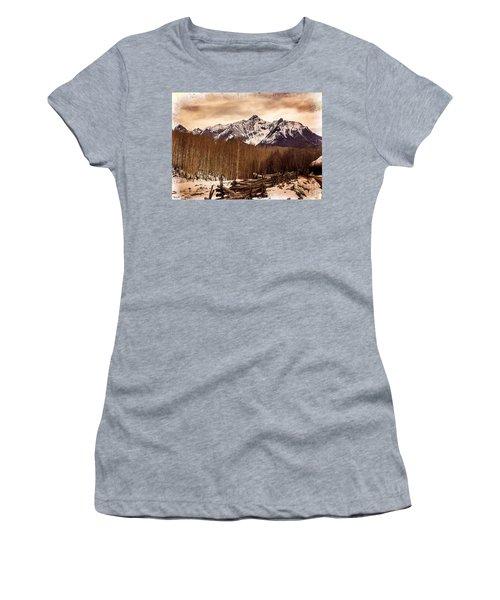 Last Dollar Road Winter Women's T-Shirt (Athletic Fit)