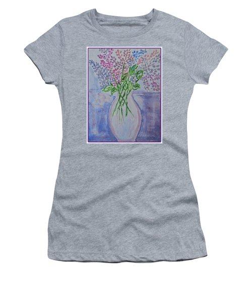 Lavendar  Flowers Women's T-Shirt (Athletic Fit)