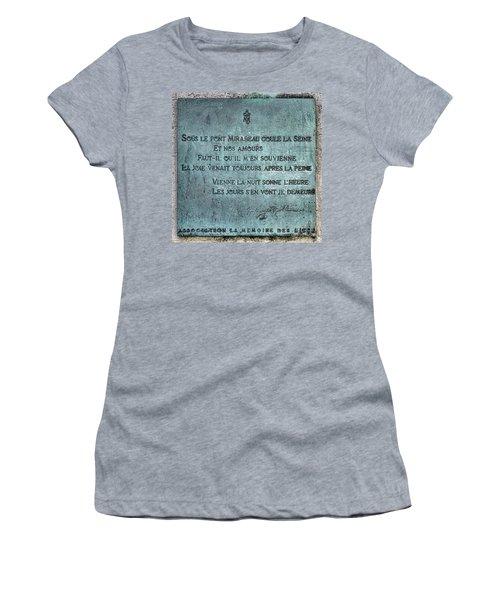 Le Pont Mirabeau Women's T-Shirt