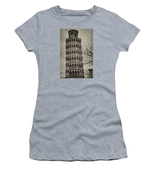 Leaning Tower Women's T-Shirt (Junior Cut) by Miguel Winterpacht