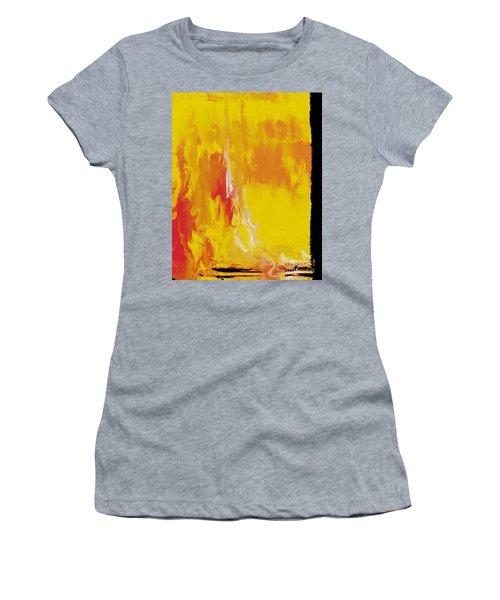 Lemon Yellow Sun Women's T-Shirt (Athletic Fit)
