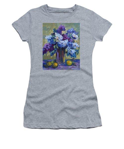 Lemons And Lilacs Women's T-Shirt (Junior Cut) by Diane McClary