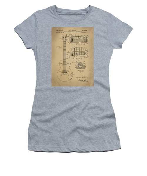 Les Paul  Guitar Patent From 1955 Women's T-Shirt