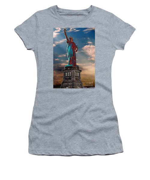 Women's T-Shirt (Junior Cut) featuring the photograph Liberty For All by Luther Fine Art