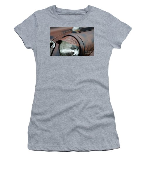 Women's T-Shirt (Junior Cut) featuring the photograph License Tag Eyebrow Headlight Cover  by Wilma  Birdwell