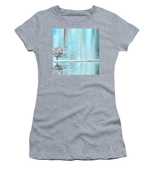 Light Blue And Gray Women's T-Shirt
