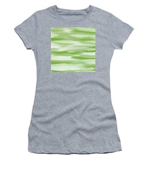 Light Green And White Women's T-Shirt