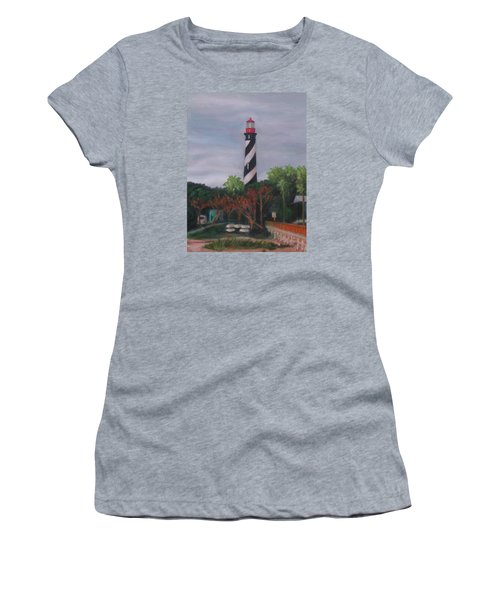 Lighthouse Morning Women's T-Shirt (Athletic Fit)