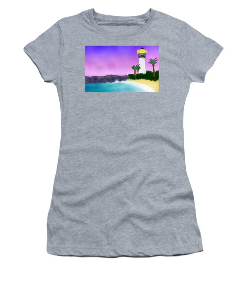 Lighthouse On Beach Women's T-Shirt (Athletic Fit)