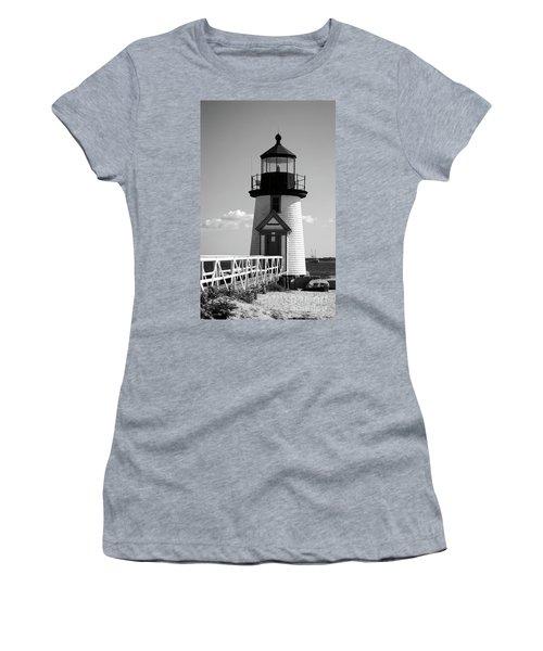 Lighthouse On Nantucket Bw Women's T-Shirt