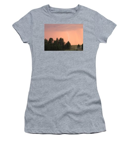 Lighting Strikes In Custer State Park Women's T-Shirt (Athletic Fit)