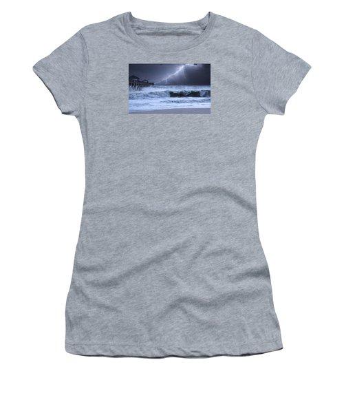 Lightning Strike Women's T-Shirt (Junior Cut) by Laura Fasulo