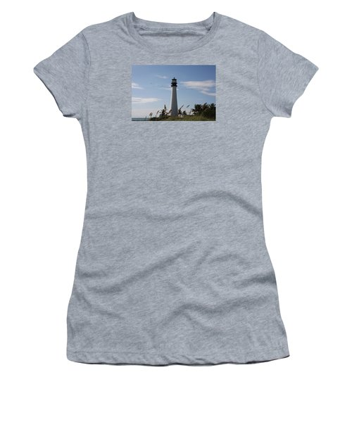 Women's T-Shirt (Junior Cut) featuring the photograph Ligthouse - Key Biscayne by Christiane Schulze Art And Photography