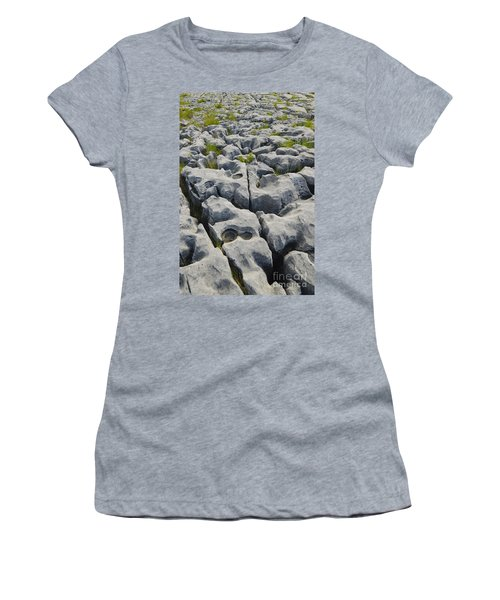 Limestone In The Burren Women's T-Shirt