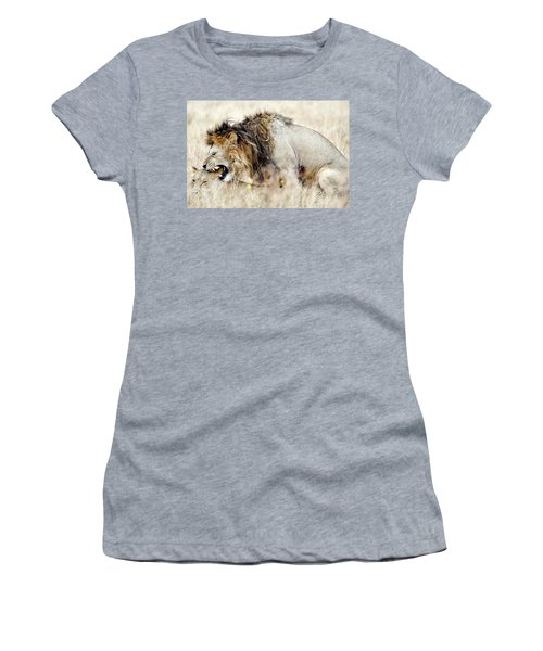 Lion And A Lioness Panthera Leo Mating Women's T-Shirt