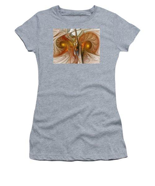 Liquid Crystal Spirals Women's T-Shirt