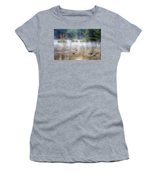 Women's T-Shirt (Junior Cut) featuring the photograph Little Bit Of Fall by Charlotte Schafer
