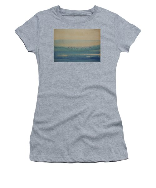 Women's T-Shirt (Junior Cut) featuring the painting Loch Of My Heart by Mini Arora