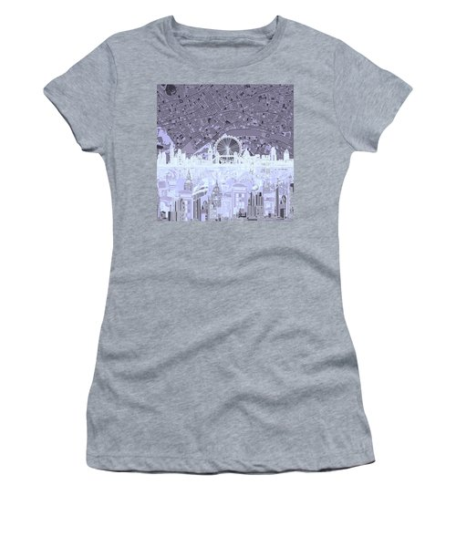 London Skyline Abstract 10 Women's T-Shirt (Athletic Fit)