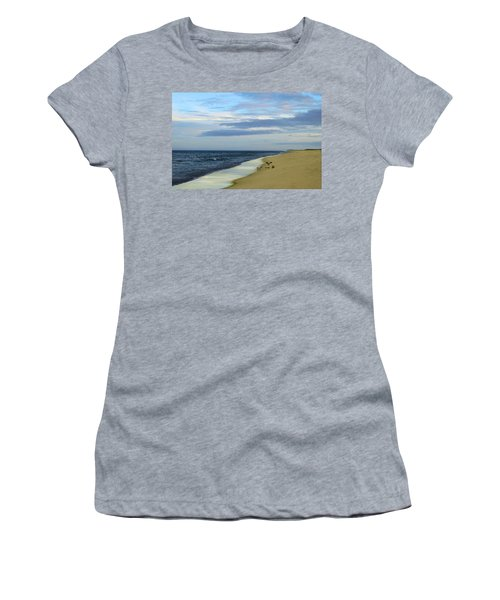 Lonely Cape Cod Beach Women's T-Shirt