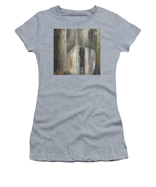 'lonely Road Without Him' Women's T-Shirt (Athletic Fit)