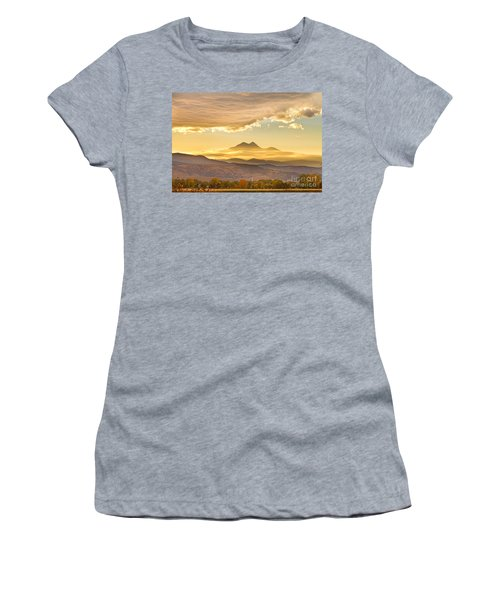 Longs Peak Autumn Sunset Women's T-Shirt (Athletic Fit)