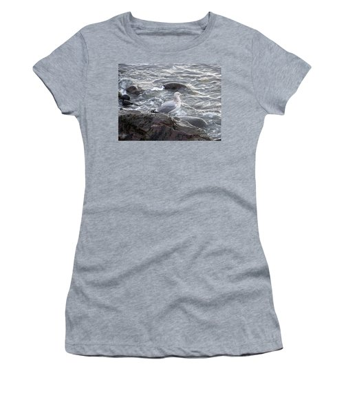 Women's T-Shirt (Junior Cut) featuring the photograph Looking Out To Sea by Eunice Miller