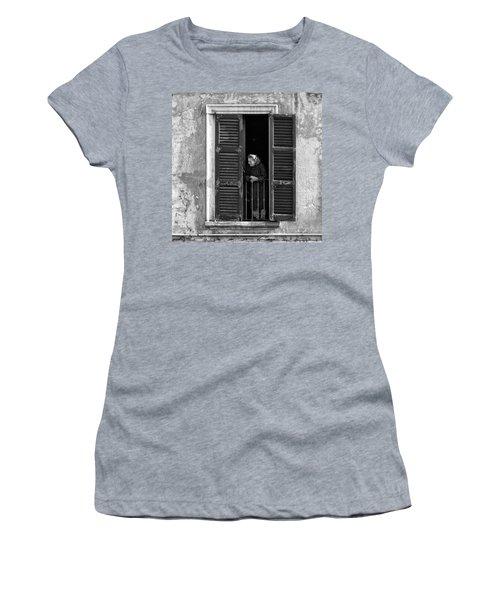 Looking Outside Women's T-Shirt
