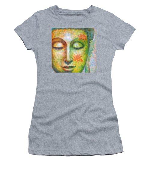 Lotus Meditation Buddha Women's T-Shirt (Athletic Fit)