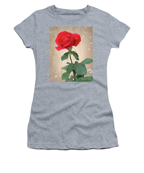 Love Is Like A Red Red Rose Women's T-Shirt (Athletic Fit)