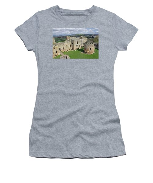 Ludlow Castle Chapel And Great Hall Women's T-Shirt (Athletic Fit)
