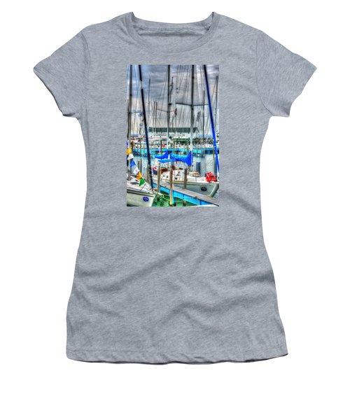 Mackinac Island Harbor Women's T-Shirt (Athletic Fit)