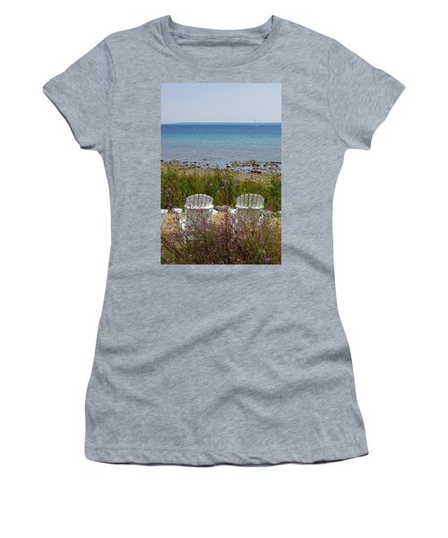 Mackinac View Women's T-Shirt (Athletic Fit)
