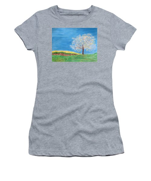 Magical Wish Tree Women's T-Shirt (Athletic Fit)