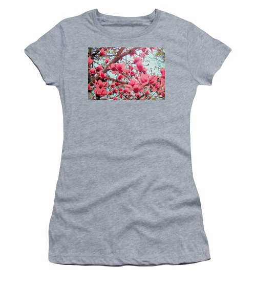 Magnolia Blossoms In Spring Women's T-Shirt (Athletic Fit)