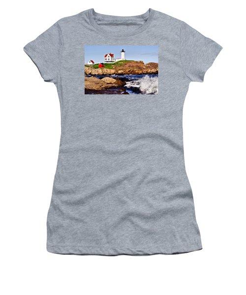 Maine's Nubble Light Women's T-Shirt (Athletic Fit)