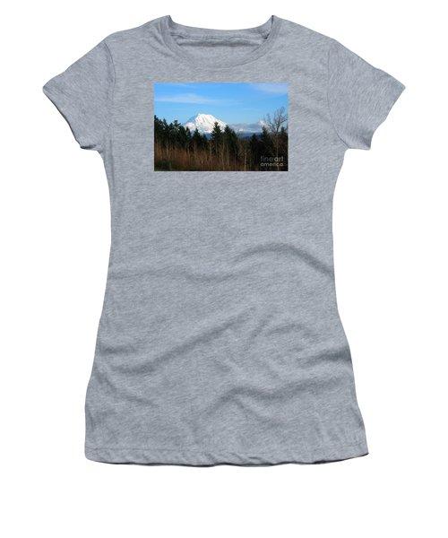 Majestic Mount Rainier Women's T-Shirt (Athletic Fit)