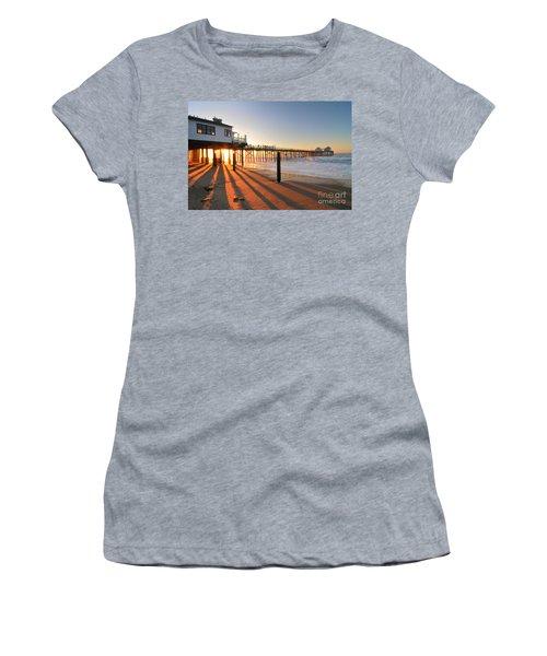 Malibu Pier Sunburst Women's T-Shirt