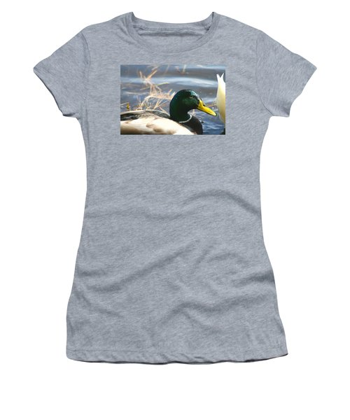 Women's T-Shirt (Junior Cut) featuring the photograph Mallard Anas Platyrhynchos by Neal Eslinger