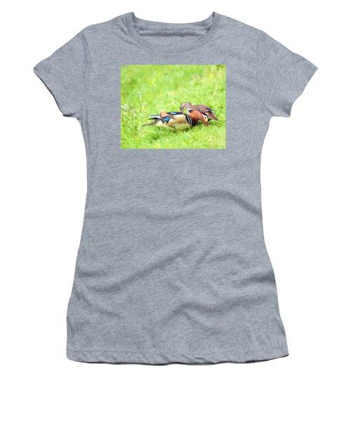 Mandarin Duck Couple Women's T-Shirt