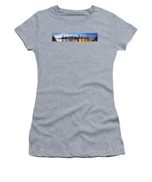 Manhattan Panorama And Queensboro Bridge Women's T-Shirt