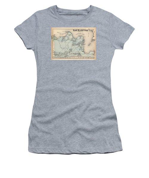 Map Of East Hampton 1873 Women's T-Shirt