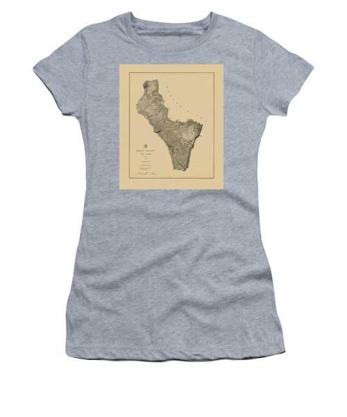 Map Of West Point 1883 Women's T-Shirt