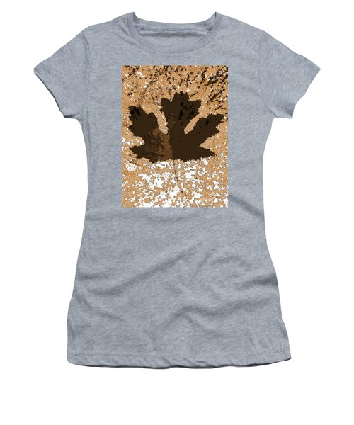 Maple Leaf Brown  Hues Women's T-Shirt (Athletic Fit)