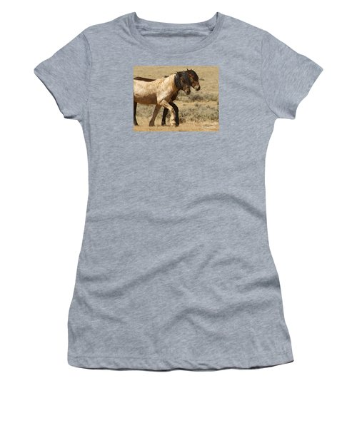 Mares In Step-signed-#9139 Women's T-Shirt (Junior Cut) by J L Woody Wooden