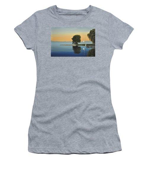Marina Morning Women's T-Shirt (Junior Cut) by Kenneth M  Kirsch