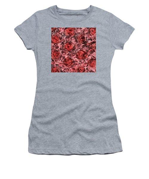 Marsala Roses Women's T-Shirt