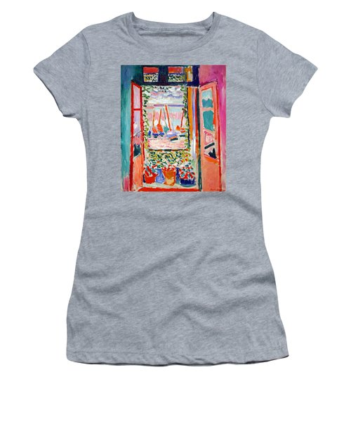 Matisse's Open Window At Collioure Women's T-Shirt (Athletic Fit)