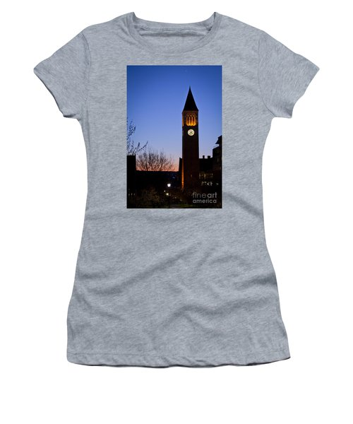 Mcgraw Tower Cornell University Women's T-Shirt (Athletic Fit)