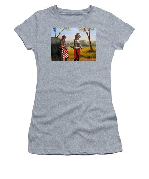Men Of The Maasai Women's T-Shirt
